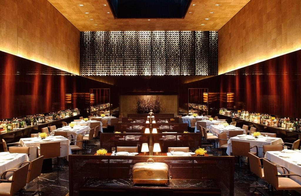 Um aspecto do restaurante Fasano.