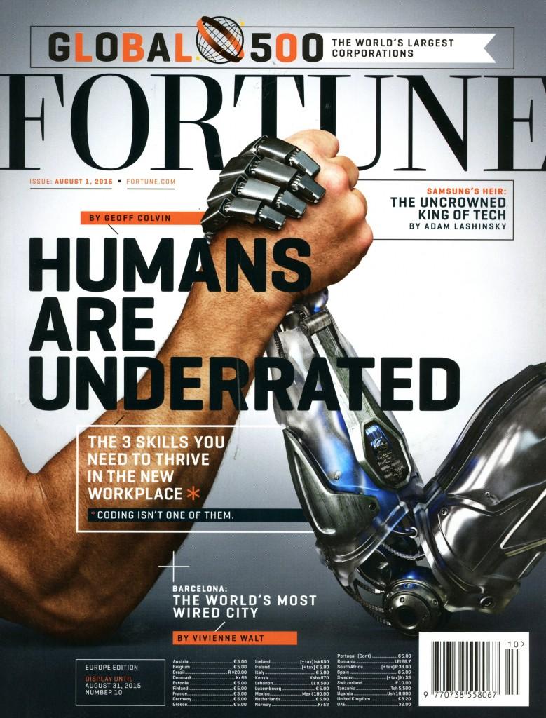 A revista Fortune, na qual Geoff Calvin escreve, dedicou uma reportagem de capa ao tema do seu livro.