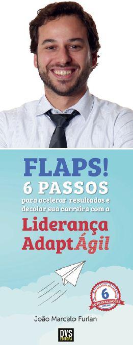 O autor João Marcelo Furlan e o seu novo livro.