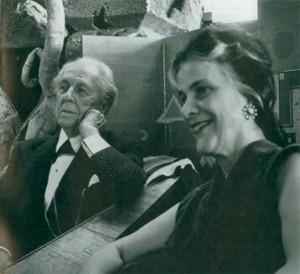 Wright e sua esposa Olgivanna Ivanovna Milanoff Hinzenberg em 1957.