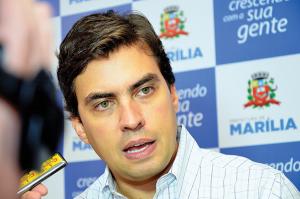 O realizador prefeito de Marília, Vinícius Camarinha.