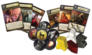O jogo de cartas Game Of Thrones.