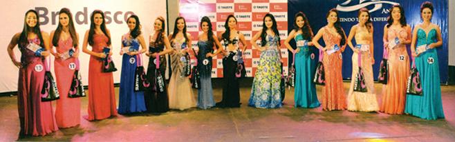 As concorrentes do Miss Nikkey de 2016.