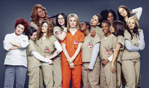 O elenco da comédia dramática Orange is the New Black.