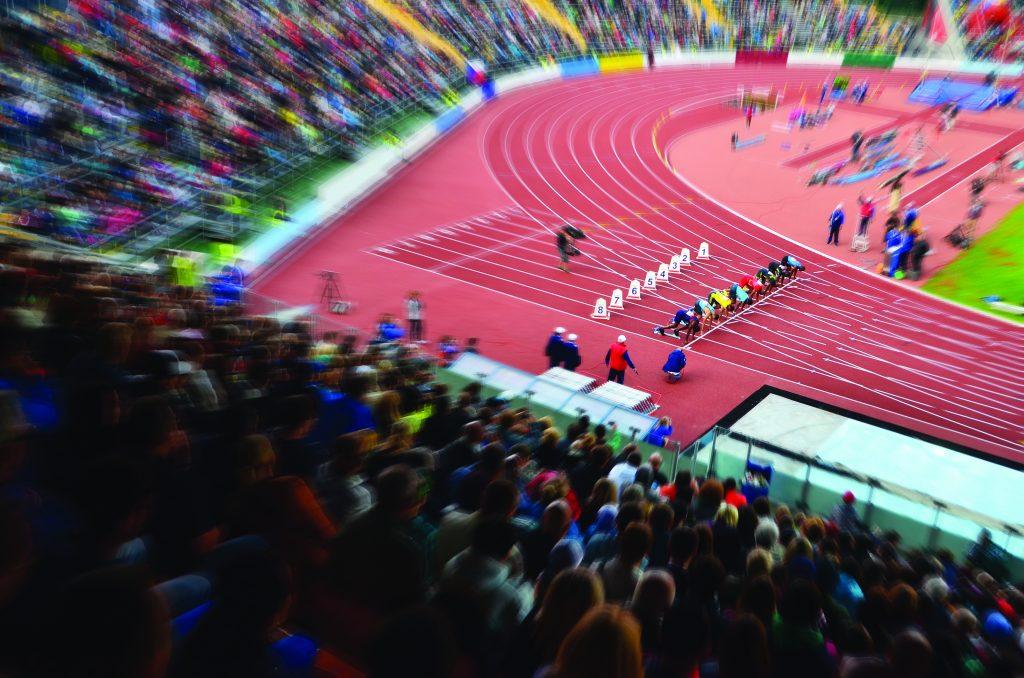 Atletismo nas Olimpíadas.